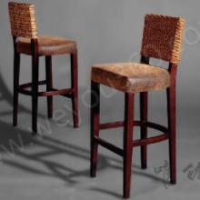 供应唯优酒吧家具定制椅定做古典韵味真皮实木吧椅定做