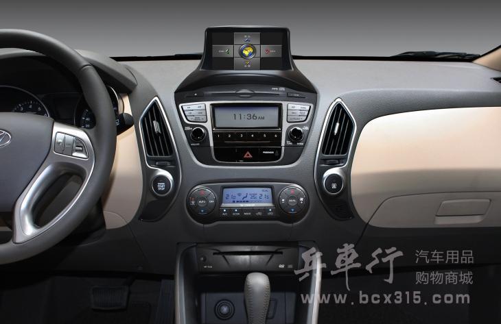 现代ix35专用导航车视杰导航升
