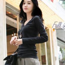 供应新品韩版女装修身V领T恤38673#