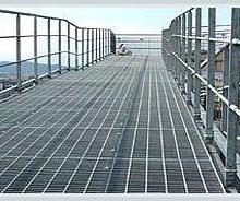 供应上海钢格栅板,上海铝厂、钢厂、煤场平台用钢格栅板