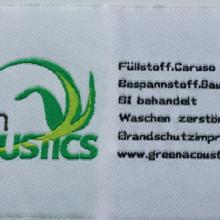 供应服装辅料缎带织唛,白底黑字织印商标唛