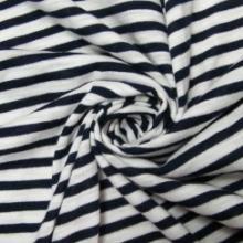 供应30S人棉间低弹彩条色织黑白间条批发