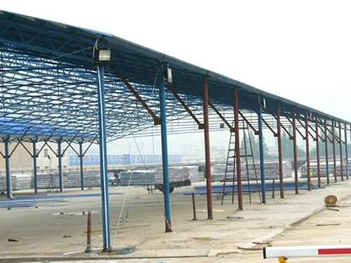 供应信州区钢筋棚、钢筋棚价格、钢筋棚特点、石料堆场彩钢棚