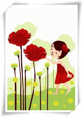 幸福花可爱的数字油画数字油画图片
