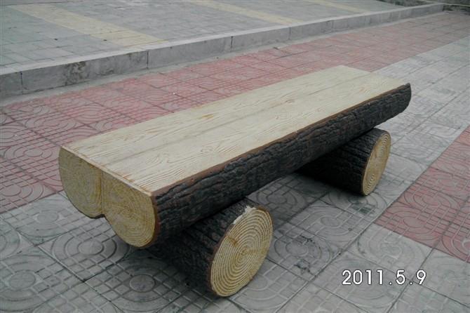 供应小区内水泥仿木小品小区内水泥仿木小品制作