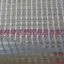 供应用于箱包|帐篷的0.5mm可热合透明PVC夹网布批发