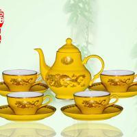 红瓷茶具红瓷礼品高档帝王黄金玲茶