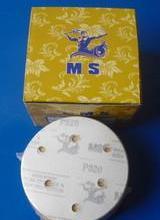 干磨砂纸猛士5寸6孔/MS抛光自粘植绒片批发