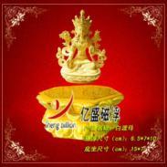高档春节礼品磁悬浮绒沙金摇钱树图片