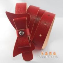 广东马兰姿新款女装真皮皮带红色010供应批发