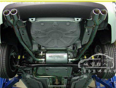 鬼火改装两冲排气管 现代名图排气管改装 名图改装排气管高清图片