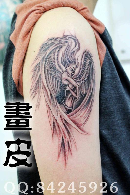 青岛画皮纹身生产供应青岛纹身李村画皮纹身天使纹身