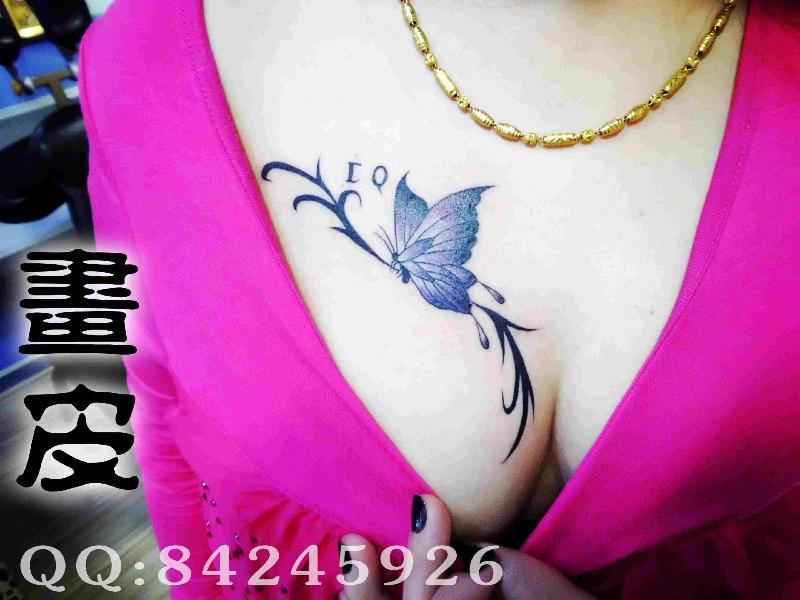 画皮纹身生产供应青岛纹身李村画皮纹身女士胸