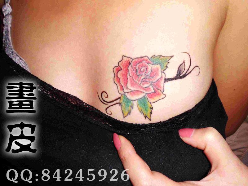 青岛画皮纹身生产供应青岛纹身李村画皮纹身玫瑰纹身图片