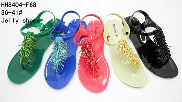 水晶果冻夹趾凉鞋