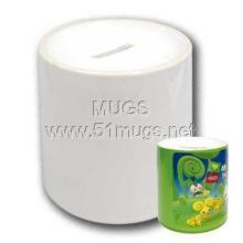 供应热转印存钱罐个性杯白色涂层杯批发