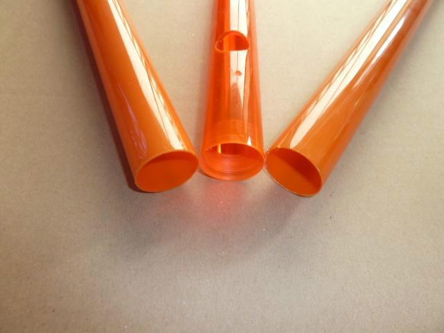厂家直销交通指挥棒挤出pc彩色塑料管 交通指挥棒pc塑料管