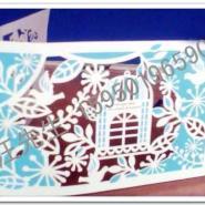 纸雕宫灯纸模剪纸贴花激光加工图片