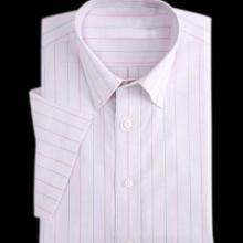 供应衬衫男式衬衫夏装短袖条纹衬衣修身商务衬衣量身定做