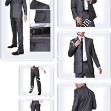 男士西服职业装套装量身定做黑色男装新郎结婚西服伴郎西服套装图片