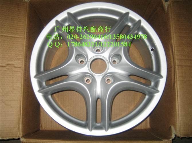 供应保时捷配件卡宴5柱双柱轮毂19寸钢圈轮胎改装