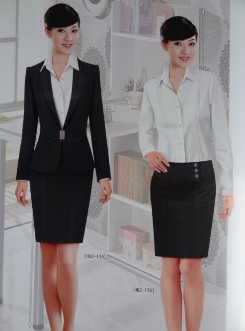 女士正装职业照图片大全 老师职业装长袖女士西装套裤