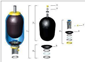 供应沙迪克注塑机储能器
