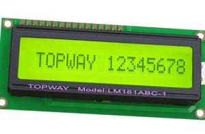 供应16x1字符LCD液晶显示屏LMB161系列