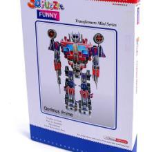 纸泡沫立体拼图批发3d模型拼图-擎天柱批发