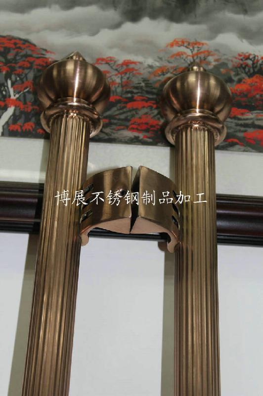 定制玫瑰金不锈钢拉手图片 定制玫瑰金不锈钢拉手样板图 定制玫瑰金