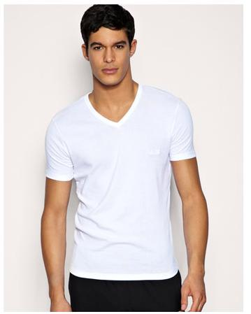 男式t恤图片|男式t恤样板图|空白t恤v领男式t恤-中山