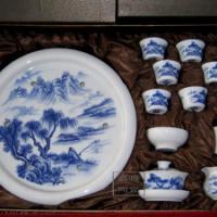 供应陶瓷茶具手绘青花陶瓷茶具