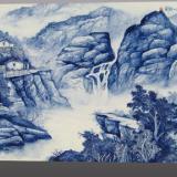 供应青花山水陶瓷瓷板画