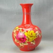 供应中国红麦秆花瓶鑫腾陶瓷