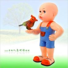 智能声控电动玩具 人鸟对话娃娃 会唱歌的小鸟