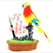 GY131电动鸟语花香动感盆景图片
