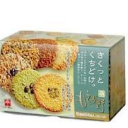 供应日本进口零食品 千朋 6味碎果仁薄脆饼干24枚 批发9元/盒