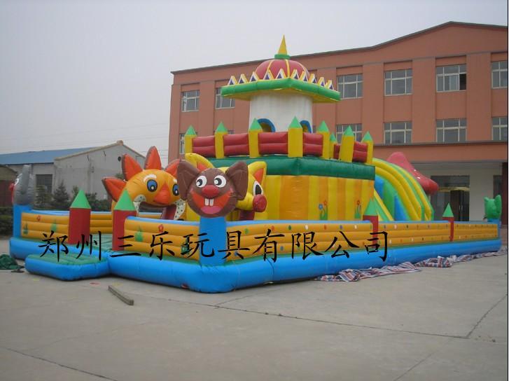 黄金儿童充气城堡玩具厂商图片