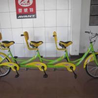 奥威特三人自行车三人车双人单车