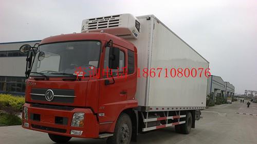 供应东风天锦7米6冷藏车保鲜厢式货车图片