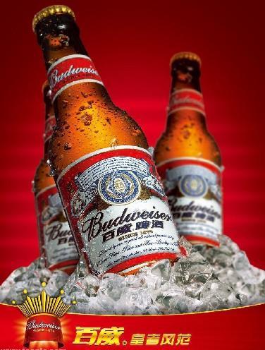百威啤酒图片 百威啤酒样板图 夜场专用百威啤酒330ml 上...