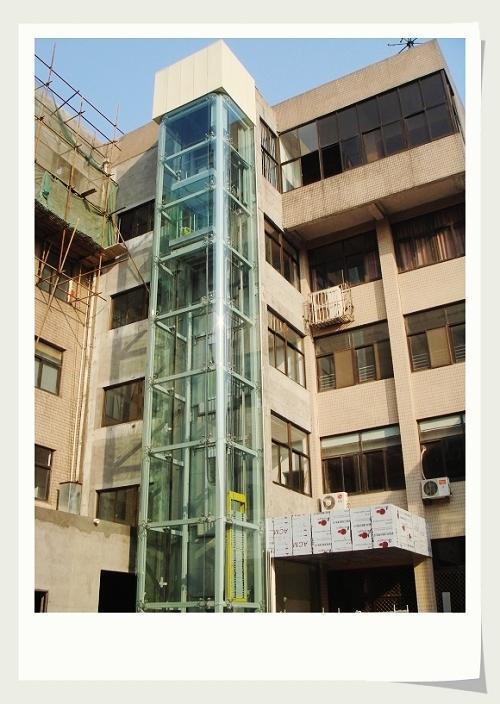 供应方形观光电梯钢结构井道