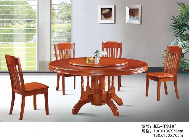 供应商/生产供应橡木圆餐桌-西安尚木实木家具