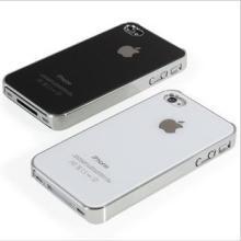 供应低价iphone4手机壳防刮玻璃外壳批发