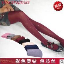 新款夏季超薄烫钻韩国丝袜包芯丝彩色带钻女士丝袜连裤袜批发批发
