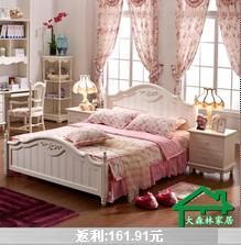 大森林家具韩式田园床实木床图片