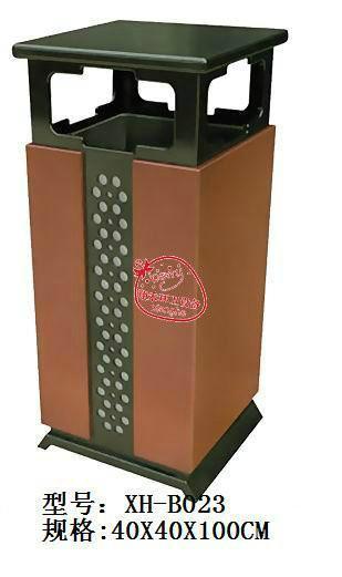 供应钢板垃圾桶XH-B019