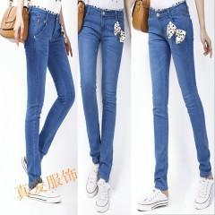 品牌复古牛仔裤图片