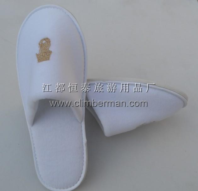 剪绒拖鞋图片_江都恒泰旅游用品厂产品图片