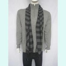 供应时尚条纹纯羊绒男士围巾厂家直销批发